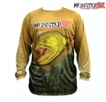 Camiseta Monster 3X Fish Collection Dourado Masculina