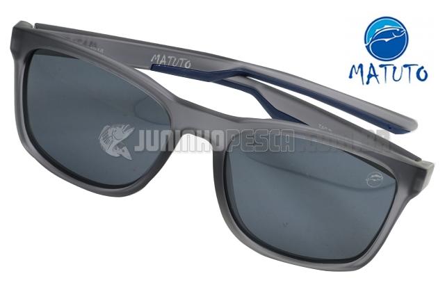 6981d9e44 Óculos Polarizado Matuto 21194PL Cinza Fosco Lente Fumê | JUNINHOPESCA