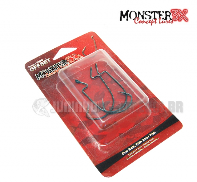 Anzol Monster 3X Offset EWG Angulado (3 unidades)