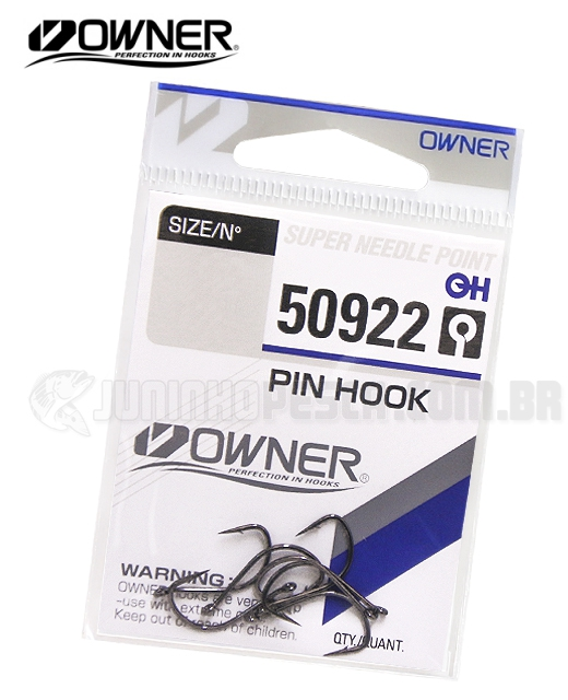 Anzol Owner Pin Hook 50922 c/ farpa