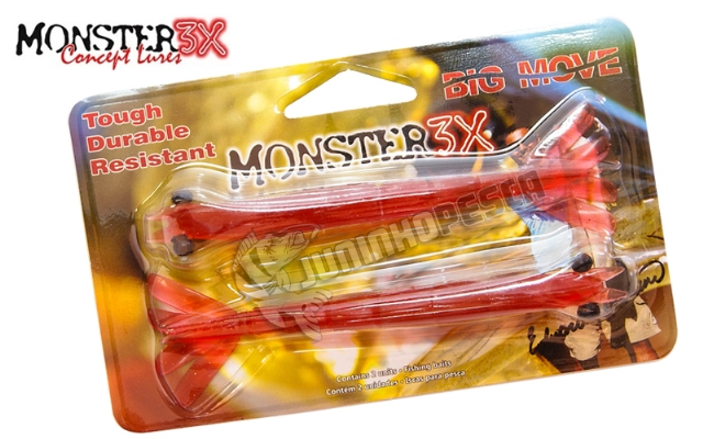 Isca Artificial Camarão Monster 3X Big Move - 14 cm