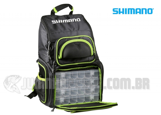 Mochila Shimano Green Fishing Backpack XL - Lug1806 4 Estojos