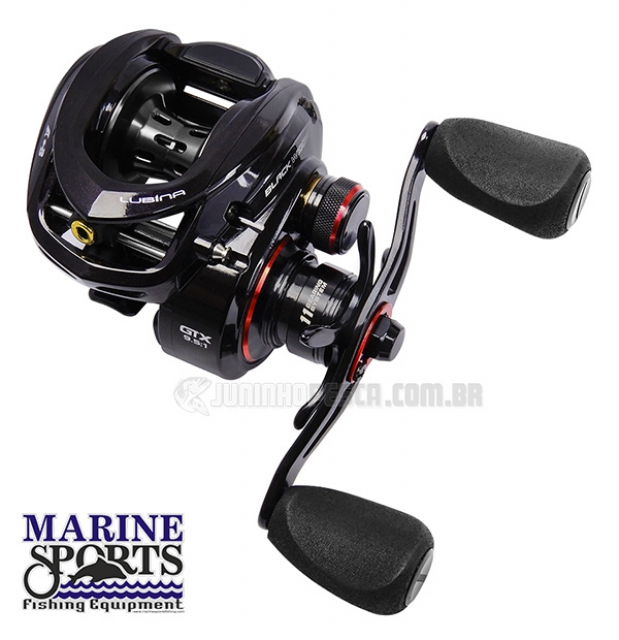 Carretilha Marine Sports Lubina Black Widow GTX SHIL (Esquerda)