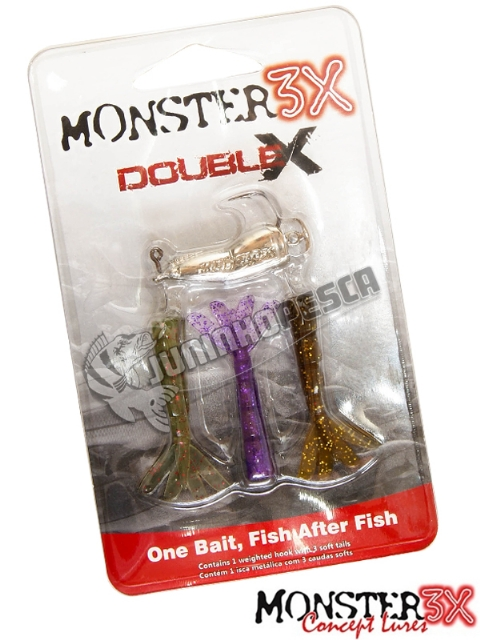 Isca Artificial Monster 3X Double-X P - 9,5 cm