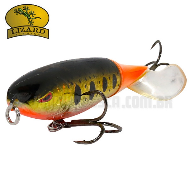 Isca Artificial Lizard Fishing Hawk Topwater 90