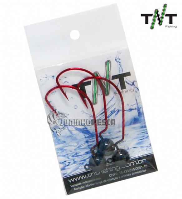 Jig Head TNT Bass Anzol EWG Red Anti Enrosco