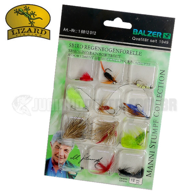 Isca Artificial Lizard Fishing Fly Hook Mod. 6812 (Kit c/ 12un.)