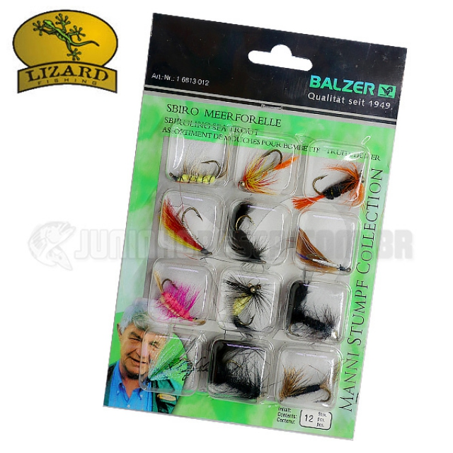 Isca Artificial Lizard Fishing Fly Hook Mod. 6813 (Kit c/ 12un.)