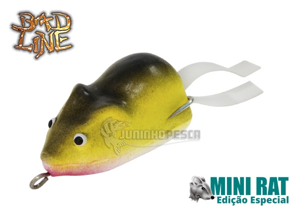 Isca Artificial Bad Line Rato Mini Rat Soft Edição Especial
