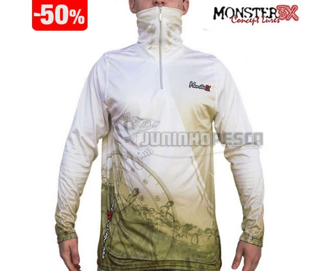 Moletom Monster 3X Branco Robalo Masculino