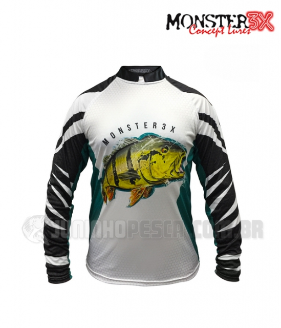 Camiseta Monster 3x New Fish 07 - Tucunaré