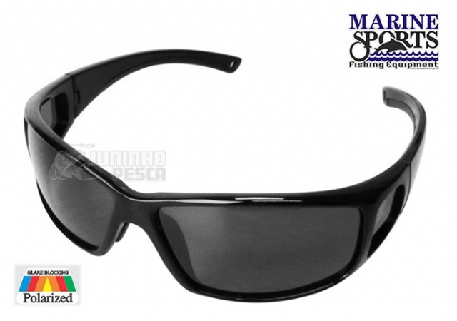 Óculos Polarizado Marine Sports MS-2648 Smoke Preto