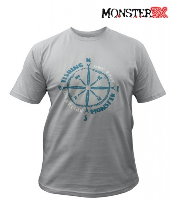 Camiseta Monster 3X Masculina Out Fishing 008 - GG