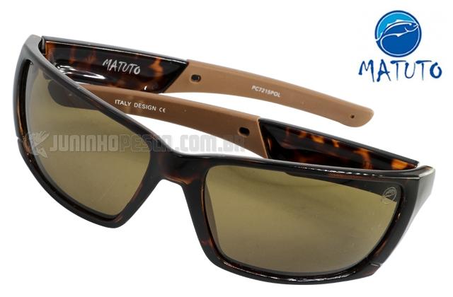 71630f562 Óculos Polarizado Matuto PC7215POL Marrom Tartaruga Lente Marrom ...