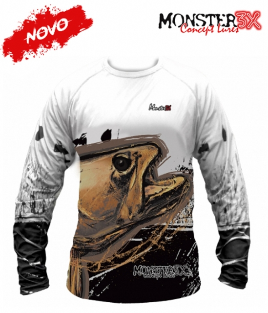 Camiseta Monster 3X NEW Fish Collection Traíra Masculina