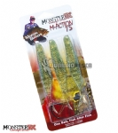 Isca Artificial Monster 3X M-Action 15 Soft Bait (3 iscas + 1 Anzol EWG)