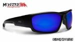 916df059337e0 Óculos Polarizado Hidrofóbico Black Monster 3X c  Lente Azul Espelhada