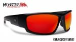 851249b50695b Óculos Polarizado Hidrofóbico Black Monster 3X c  Lente Vermelha Espelhada