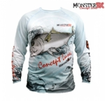 Camiseta Monster 3X Fish Collection Olho de Boi Masculina - Tam. P