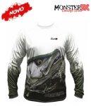 Camiseta Monster 3X NEW Fish Collection Robalo Masculina