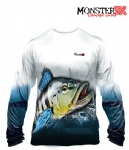 Camiseta Monster 3X NEW Fish Collection Tucunaré Azul Masculina
