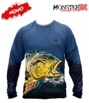 Camiseta Monster 3X NEW Fish Collection Tucunaré Açu Masculina