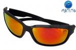 6426491fa Óculos Polarizado Matuto 79009PL Preto Lente Vermelha Espelhada